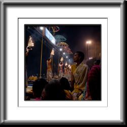 Varanassi, Evening, Pooja, prayers, hindu, India, woman, night, fire