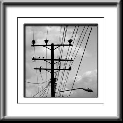 wires, abstract, black and white